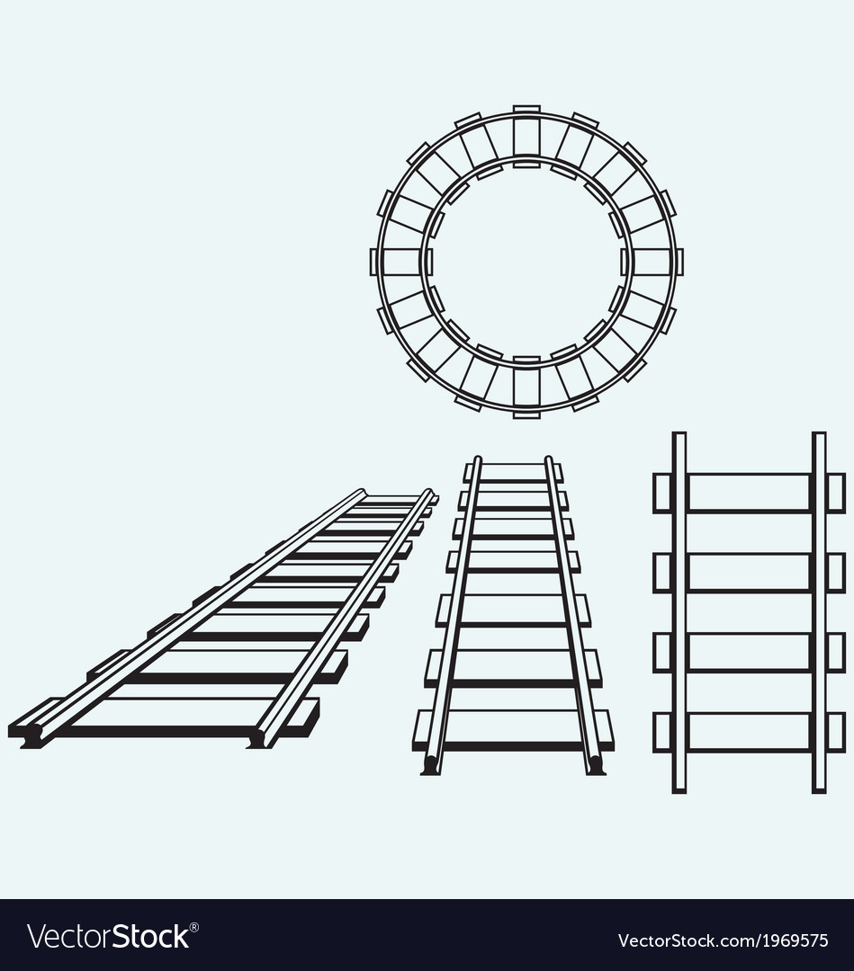 Set railroad vector | Price: 1 Credit (USD $1)