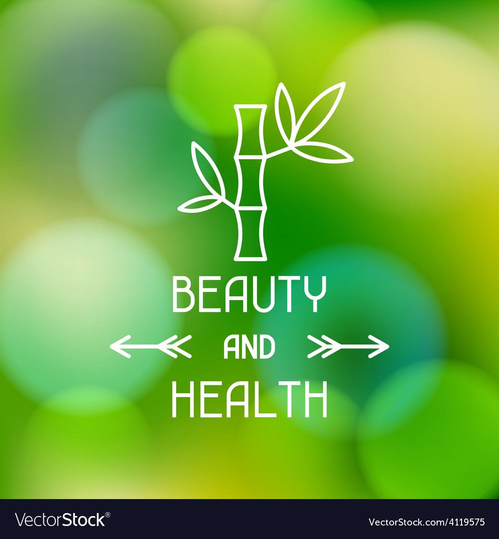 Spa beauty and health label on blurred background vector | Price: 1 Credit (USD $1)