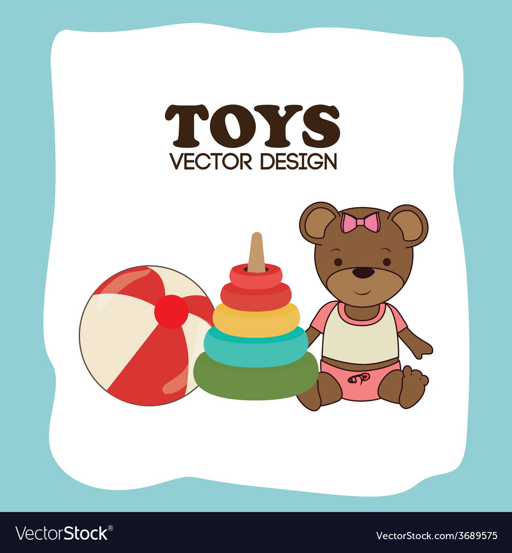 Toys design over blue background vector | Price: 1 Credit (USD $1)