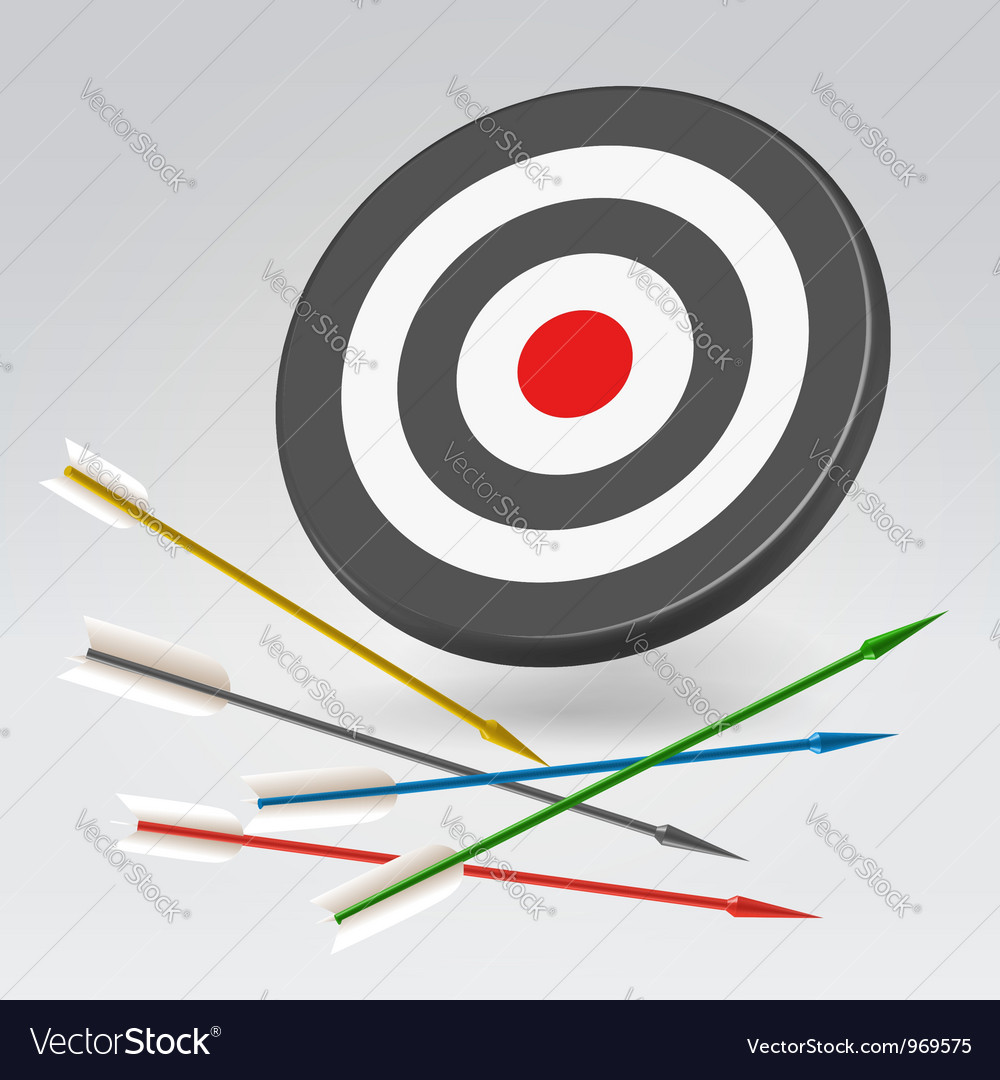 Unreachable archery target vector | Price: 1 Credit (USD $1)