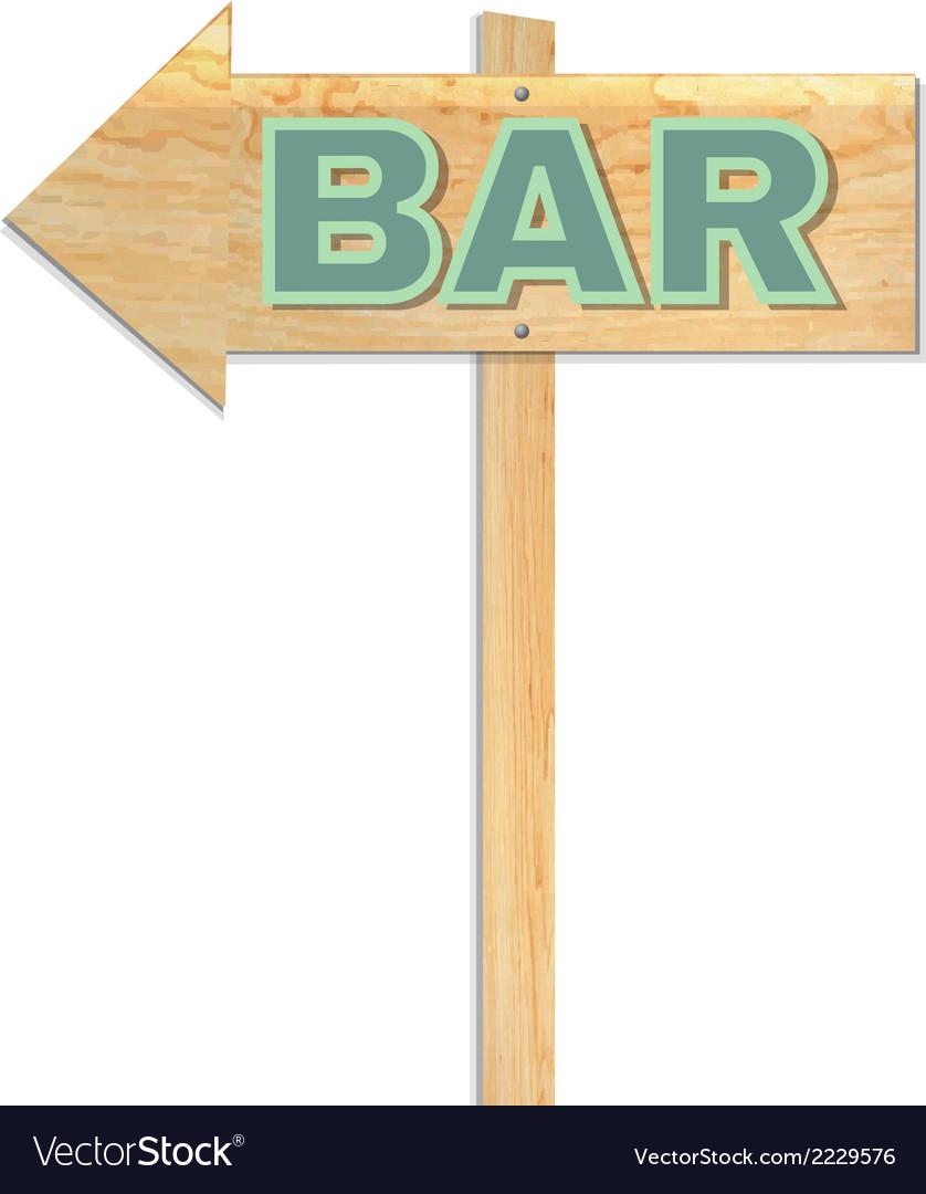 Beach bar sign vector | Price: 1 Credit (USD $1)