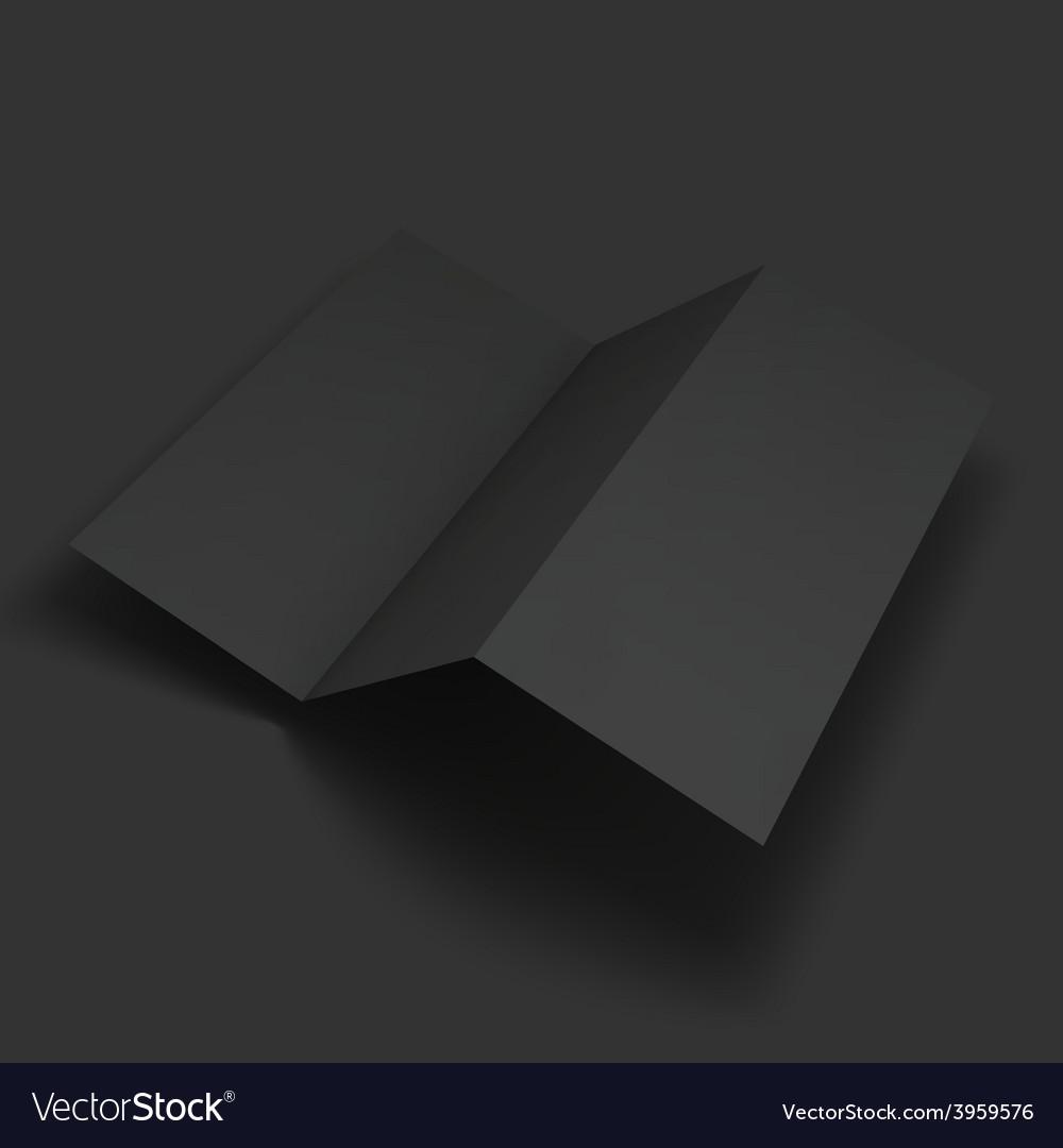 Blank trifold paper brochure mockup vector | Price: 1 Credit (USD $1)