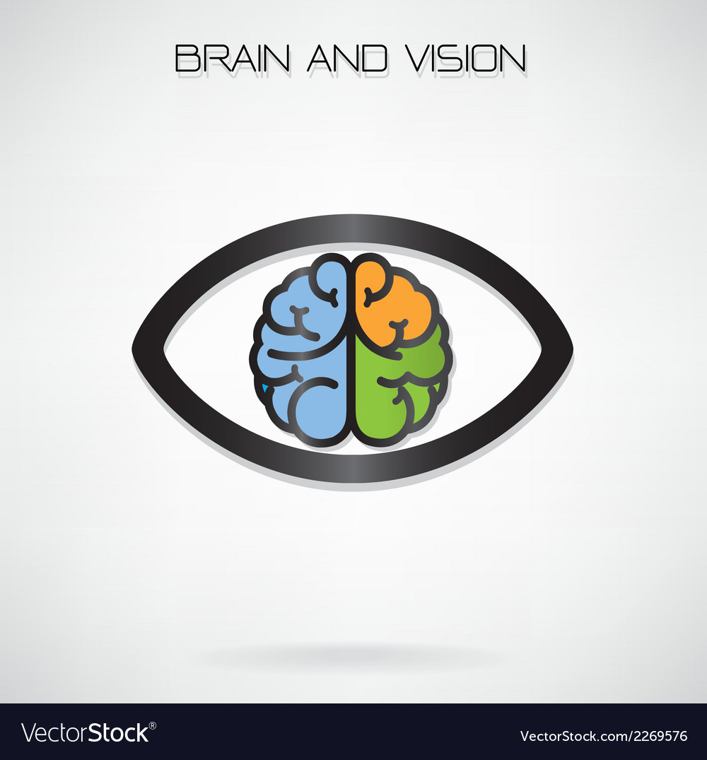 Brain and eye symbol vector | Price: 1 Credit (USD $1)
