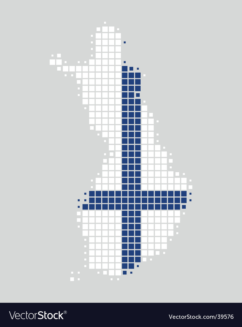 Map and flag of finland vector | Price: 1 Credit (USD $1)