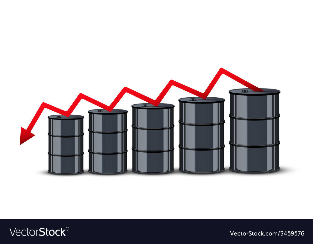 Oil barrels on the price chart background vector   Price: 1 Credit (USD $1)