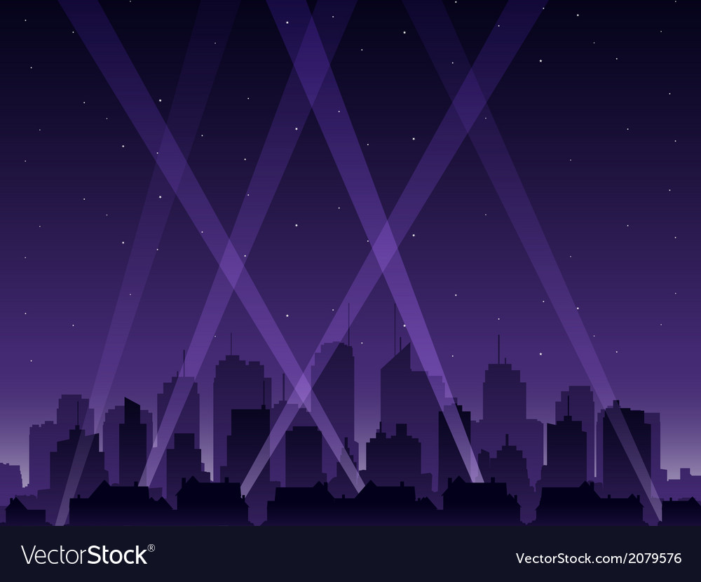 Party city at night vector | Price: 1 Credit (USD $1)