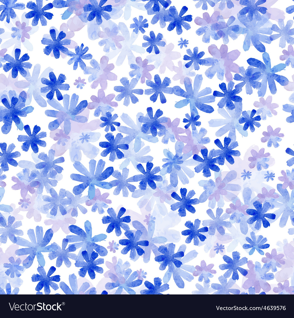 Seamless pattern from water color flowers vector | Price: 1 Credit (USD $1)