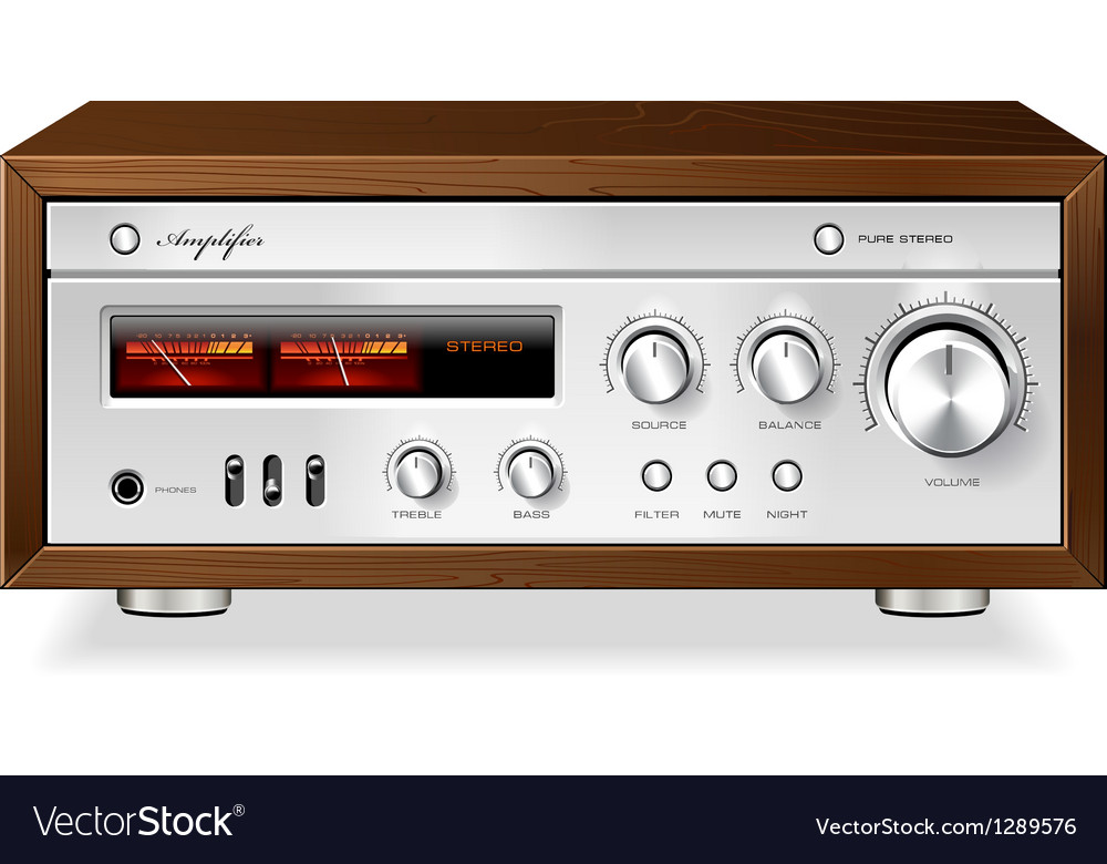 Vintage stereo analog vector | Price: 3 Credit (USD $3)