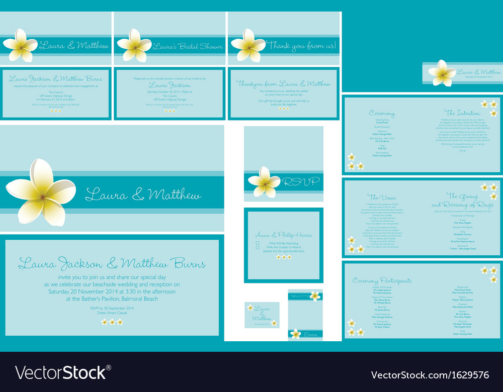 Wedding invitations vector | Price: 1 Credit (USD $1)