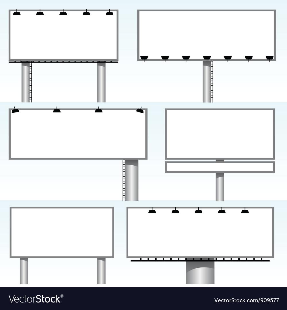 Billboards vector | Price: 1 Credit (USD $1)