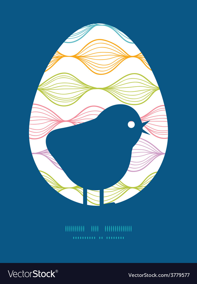 Colorful horizontal ogee chicken silhouette vector | Price: 1 Credit (USD $1)