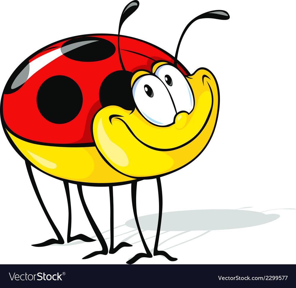 Funny ladybug cartoon vector | Price: 1 Credit (USD $1)