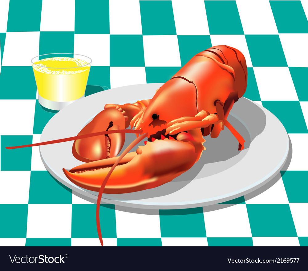 Lobster dinner vector | Price: 1 Credit (USD $1)