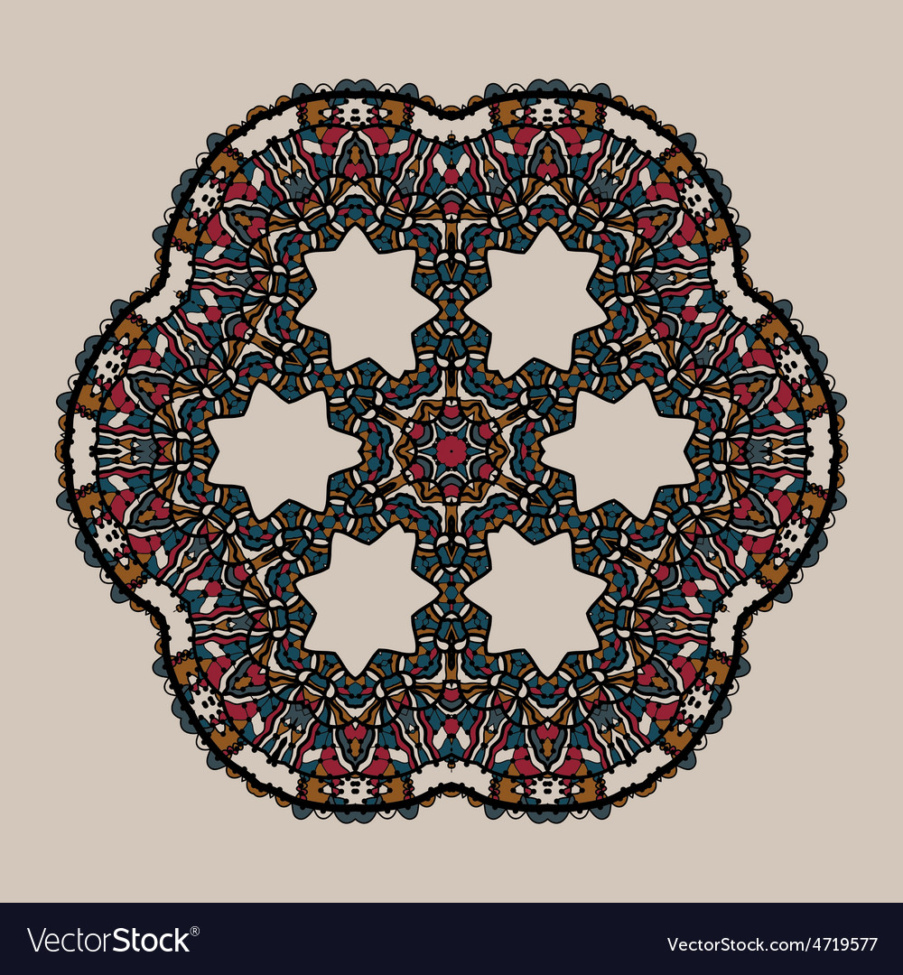 Mandala stylized tribal art ornate lace medallion vector   Price: 1 Credit (USD $1)