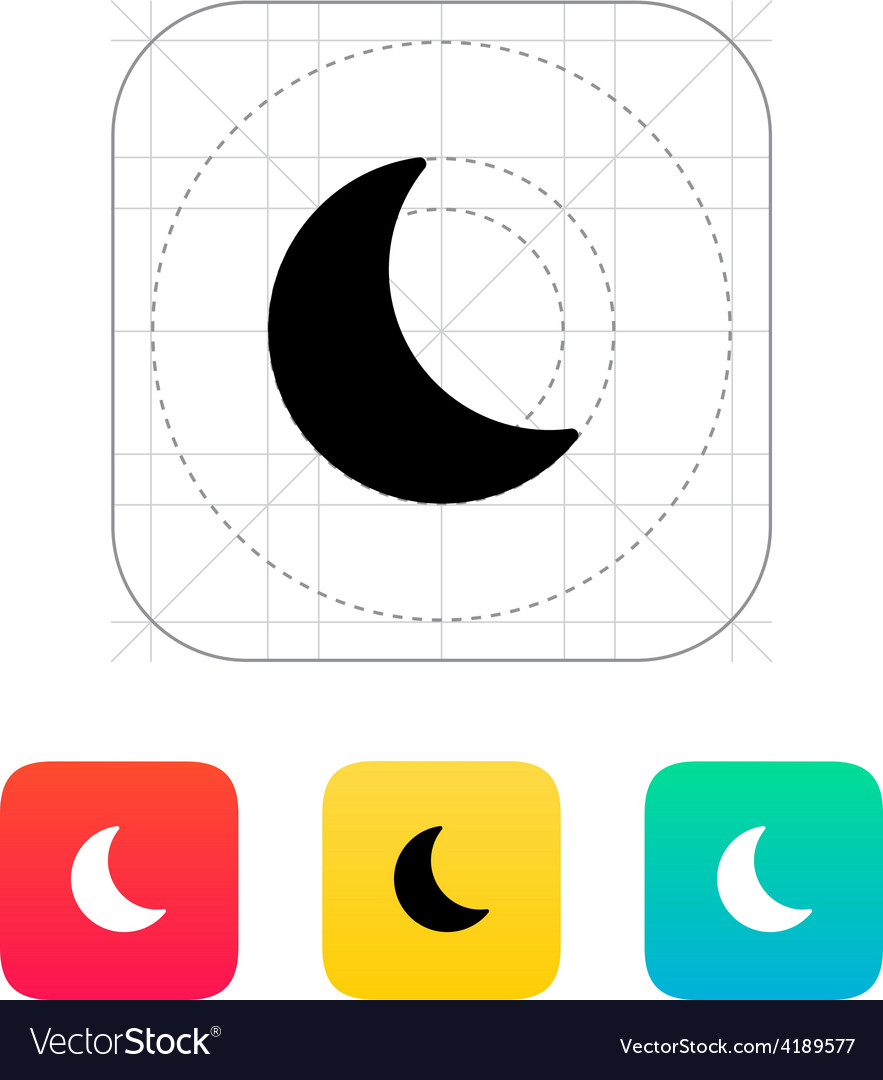 Night weather icon vector | Price: 1 Credit (USD $1)