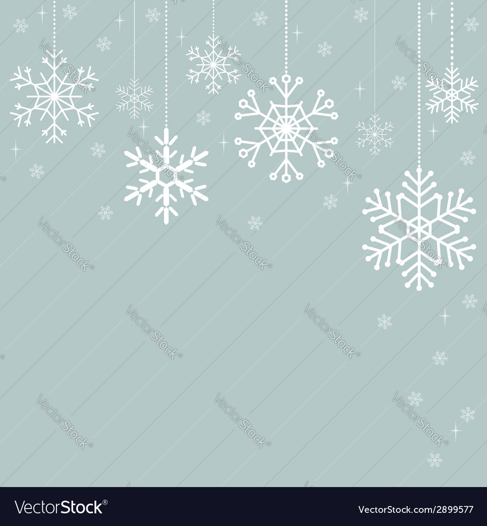 Snowflakes christmas decorations vector | Price: 1 Credit (USD $1)