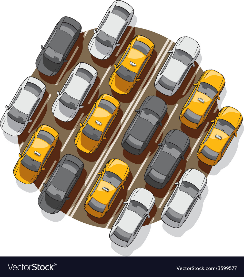 Traffic jam vector | Price: 3 Credit (USD $3)