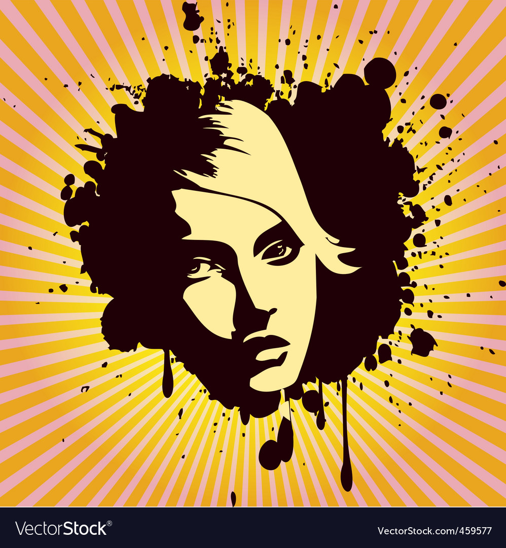 Woman's portrait grunge style vector | Price: 1 Credit (USD $1)
