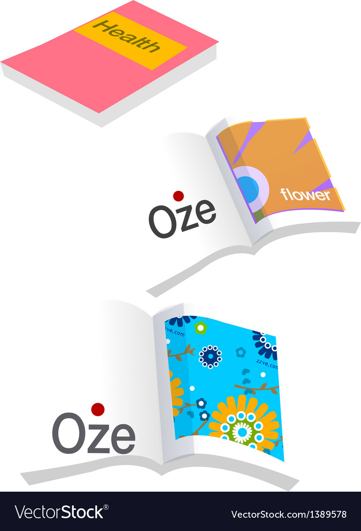 A view of a book vector
