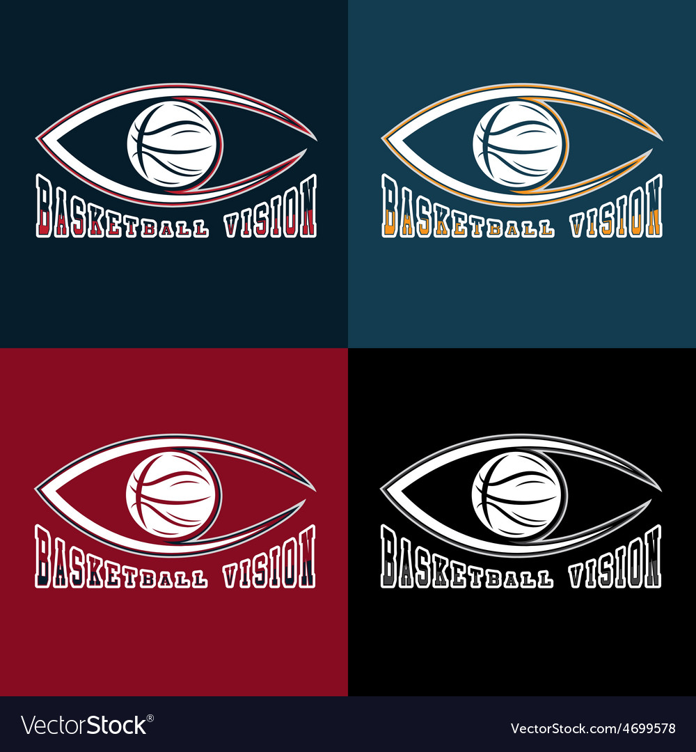 Basketball vision design template vector | Price: 1 Credit (USD $1)