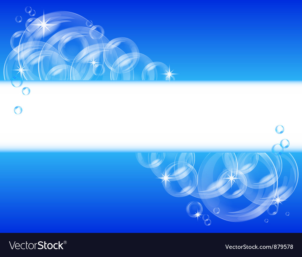 Blue bubble background vector | Price: 1 Credit (USD $1)