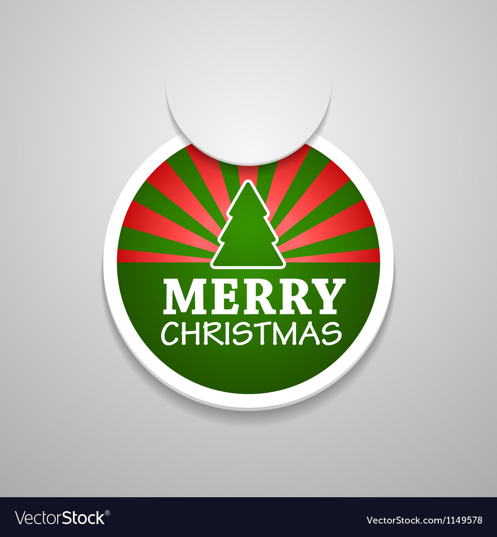 Circle attach merry christmas sticker vector   Price: 1 Credit (USD $1)