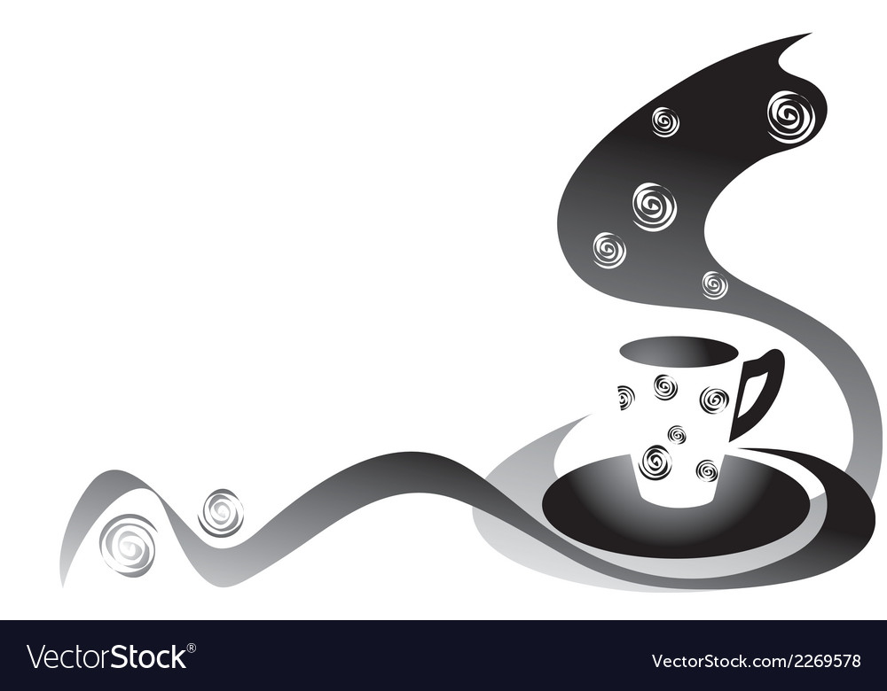 Coffee black and white vector | Price: 1 Credit (USD $1)