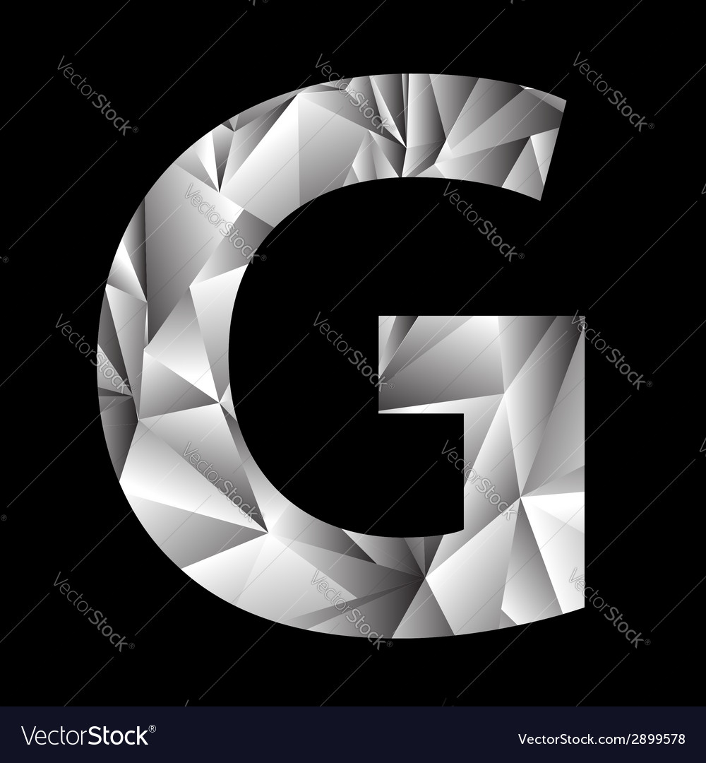 Crystal letter g vector | Price: 1 Credit (USD $1)