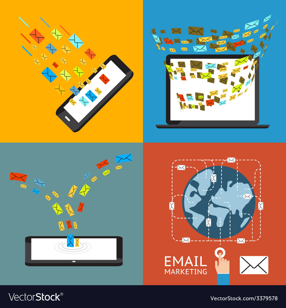 Email marketing vector | Price: 1 Credit (USD $1)