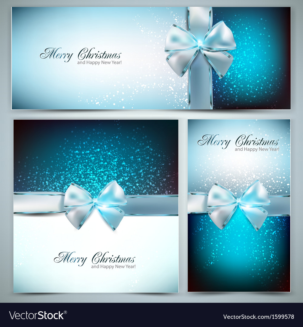 Holiday banners with ribbons background vector | Price: 1 Credit (USD $1)
