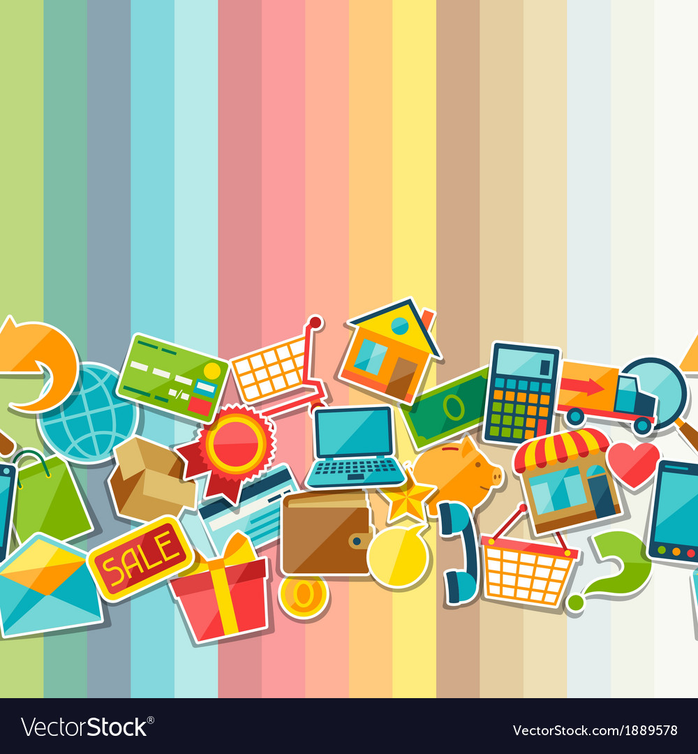 Internet shopping seamless pattern vector | Price: 1 Credit (USD $1)