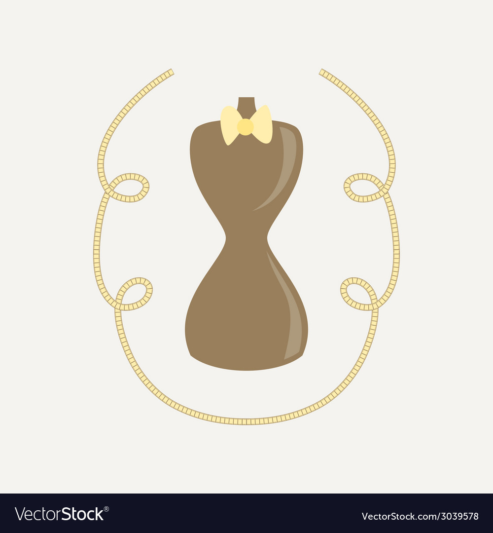 Mannequin and tailor meter ribbon vector | Price: 1 Credit (USD $1)