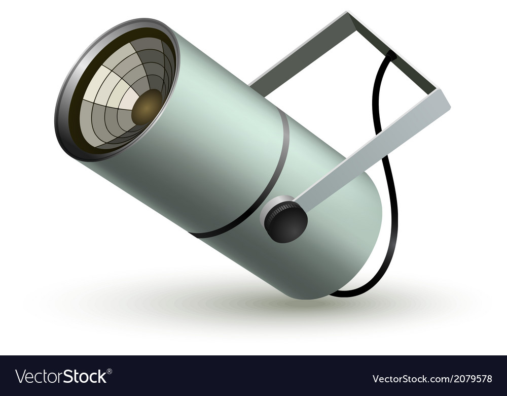 Metal cylindrical spotlight on a white background vector | Price: 1 Credit (USD $1)
