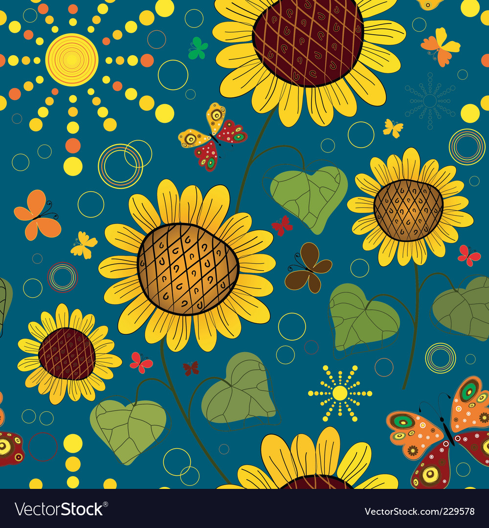 Seamless floral vector | Price: 3 Credit (USD $3)