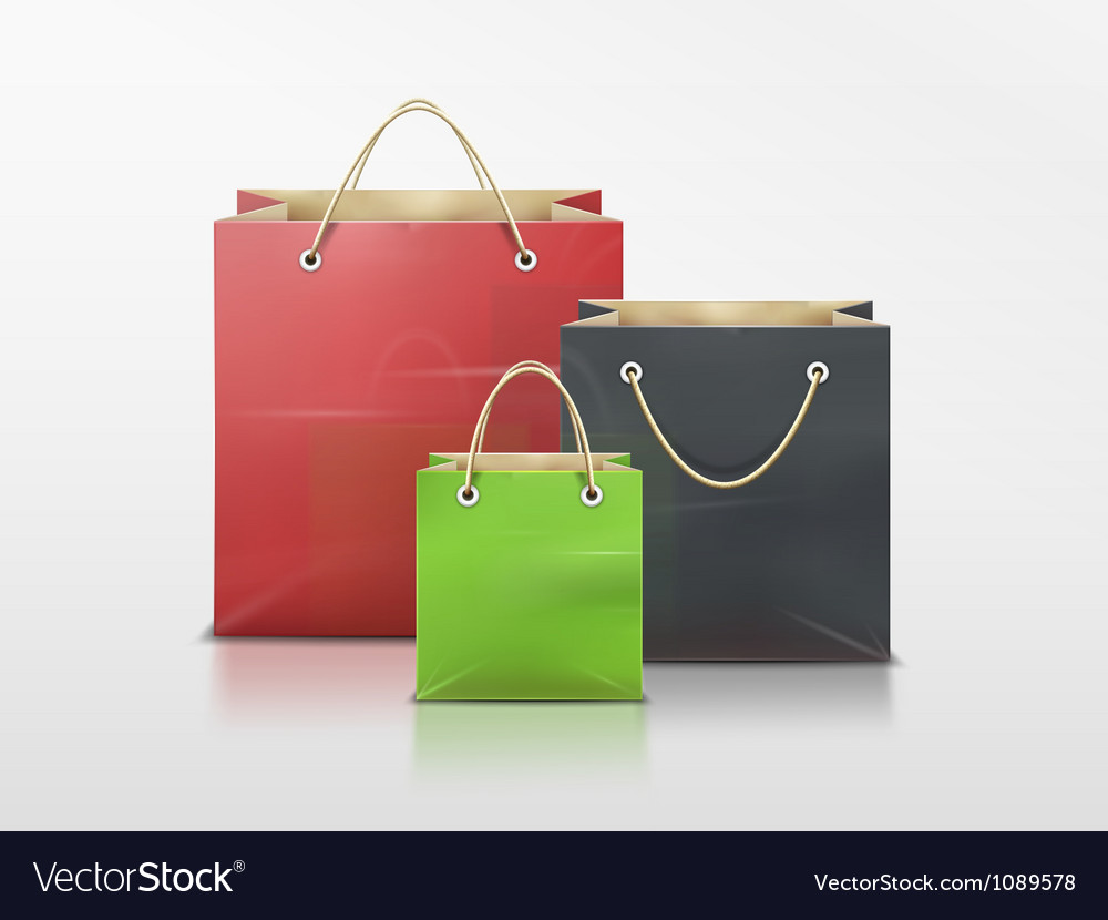 Shopping bags set vector | Price: 3 Credit (USD $3)