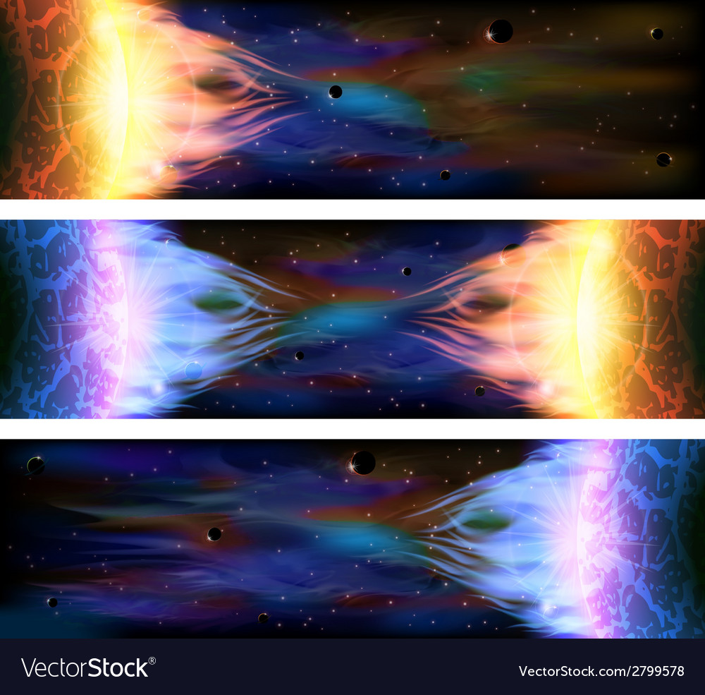 Space banners vector | Price: 1 Credit (USD $1)