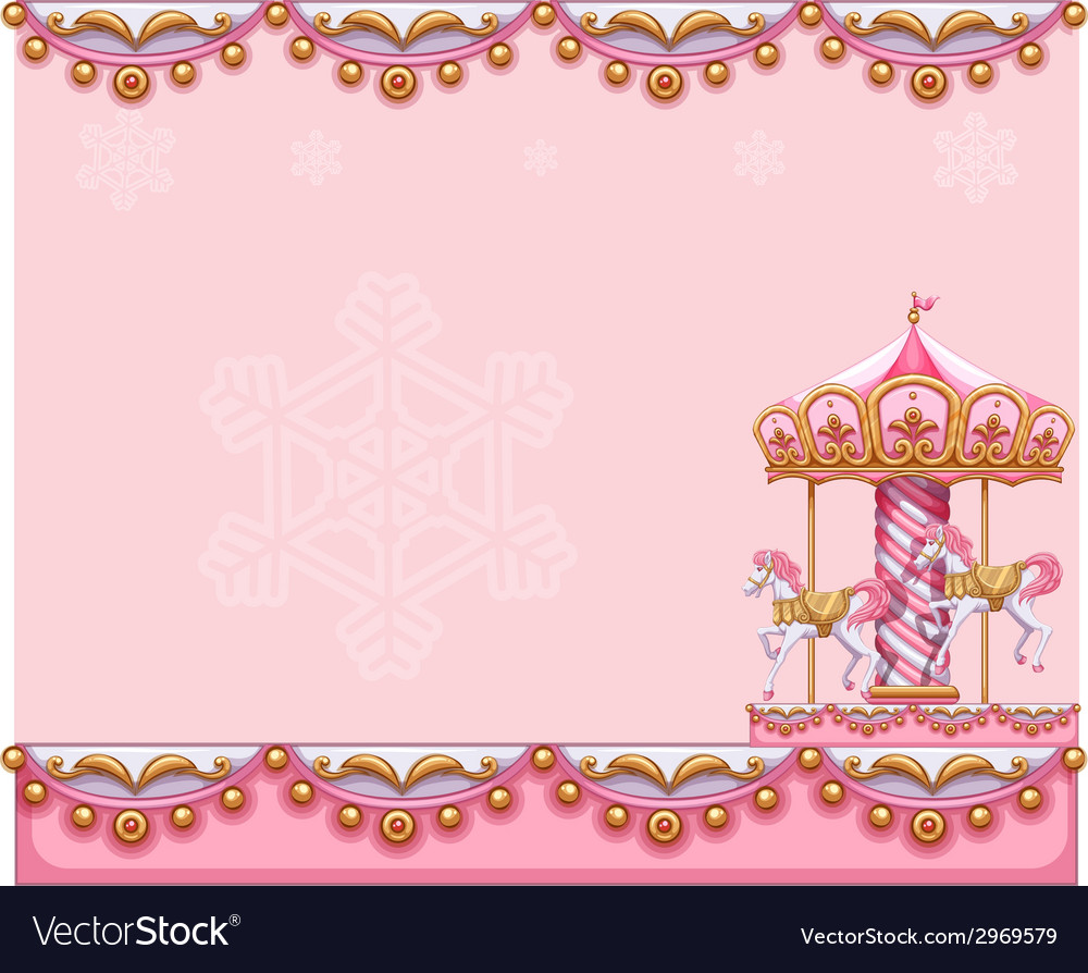 A stationery template with a merry-go-round ride vector | Price: 1 Credit (USD $1)