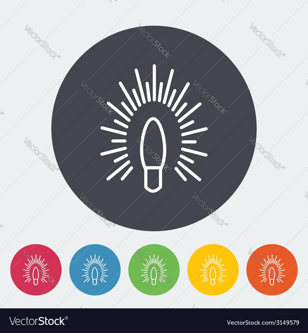 Bulb flat icon vector   Price: 1 Credit (USD $1)