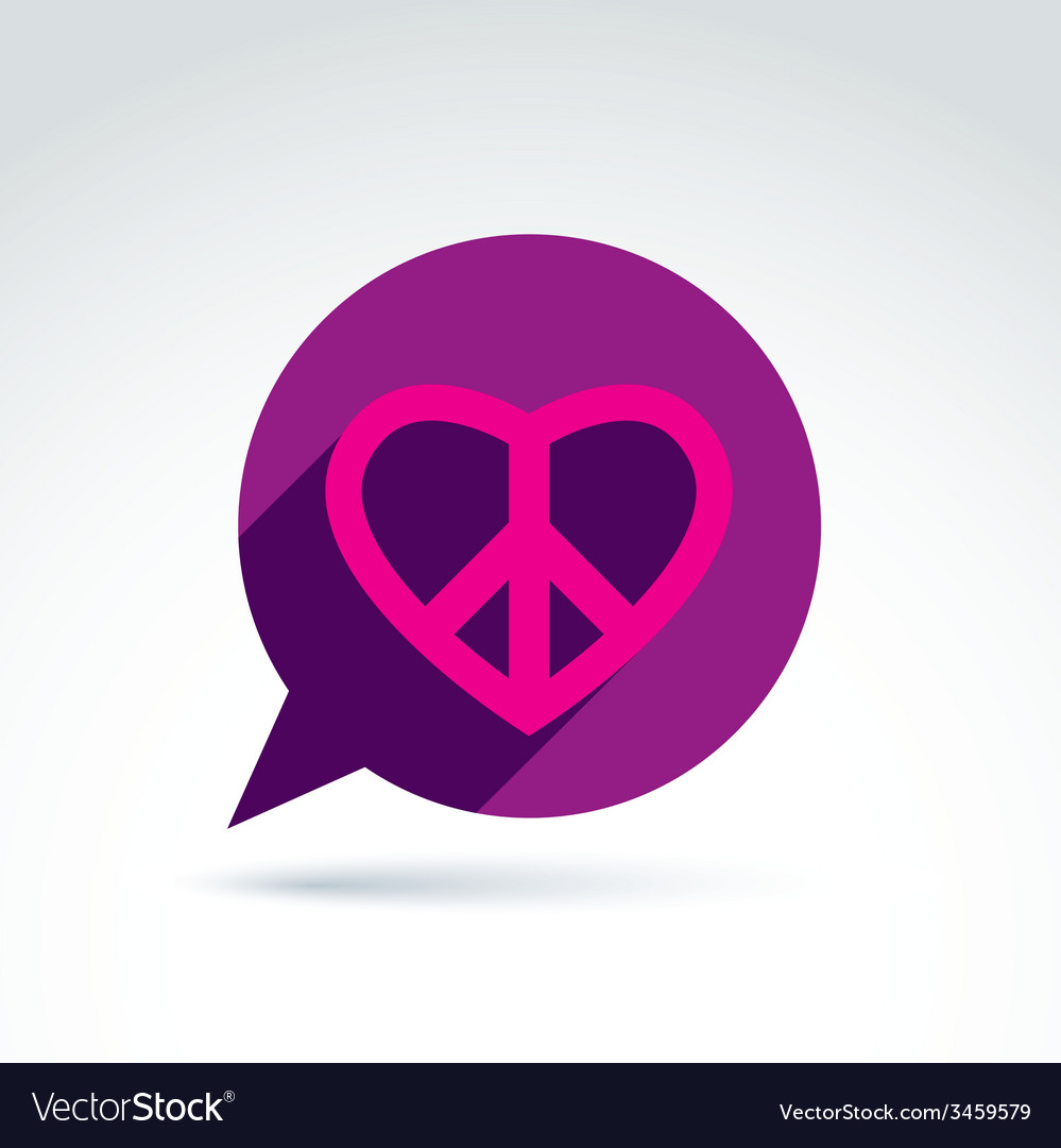 Chat on peace and love theme antiwar and love vector | Price: 1 Credit (USD $1)