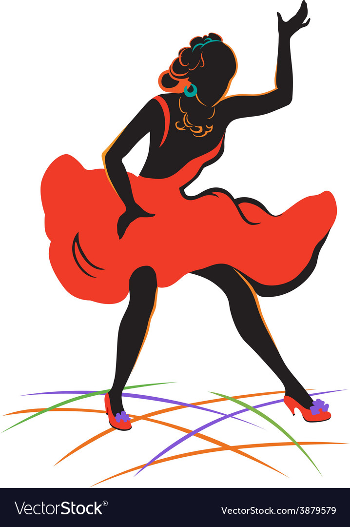 Dancing girl vector | Price: 1 Credit (USD $1)