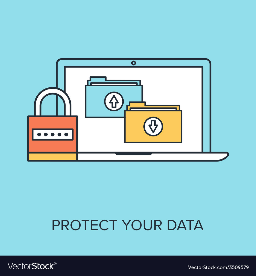 Data protection vector | Price: 1 Credit (USD $1)