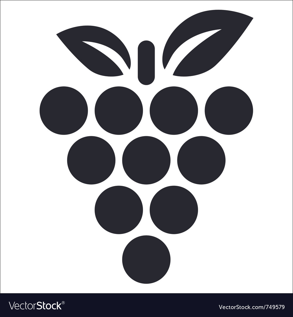 Grape icon vector | Price: 1 Credit (USD $1)
