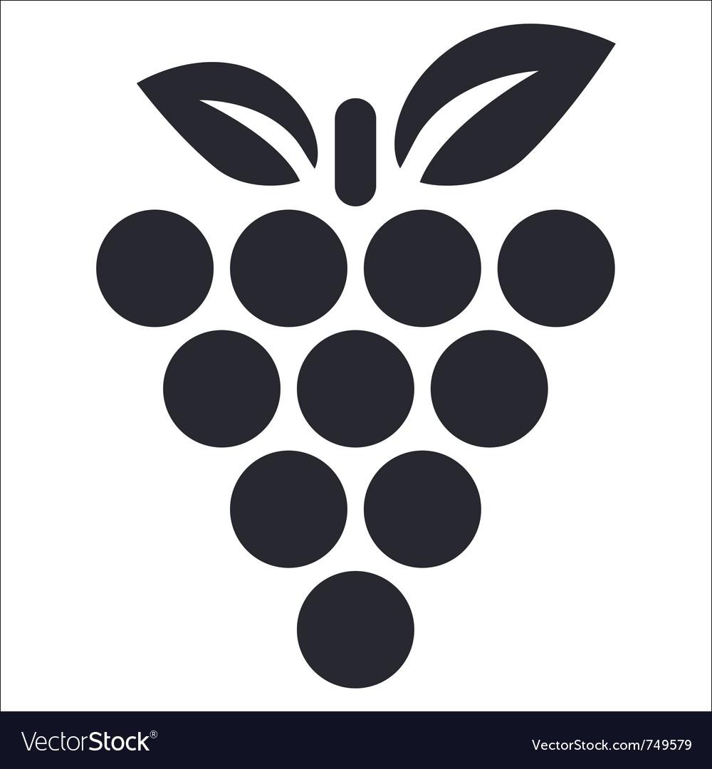 Grape icon vector   Price: 1 Credit (USD $1)