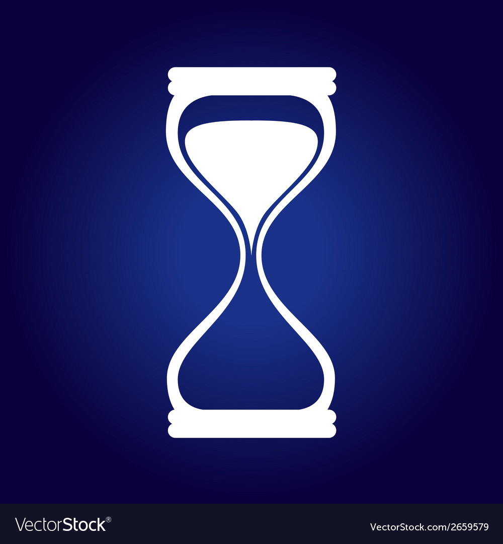 Hourglass blue vector | Price: 1 Credit (USD $1)