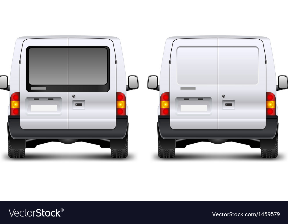 Minivan rear view vector | Price: 3 Credit (USD $3)