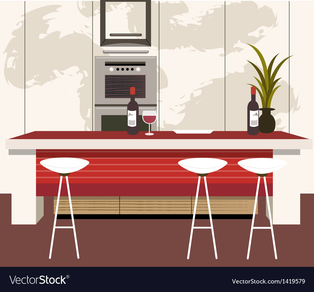 Modern kitchen vector | Price: 1 Credit (USD $1)