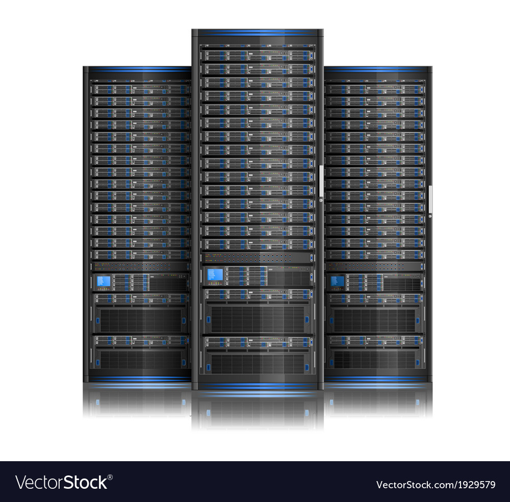 Row of servers vector | Price: 1 Credit (USD $1)