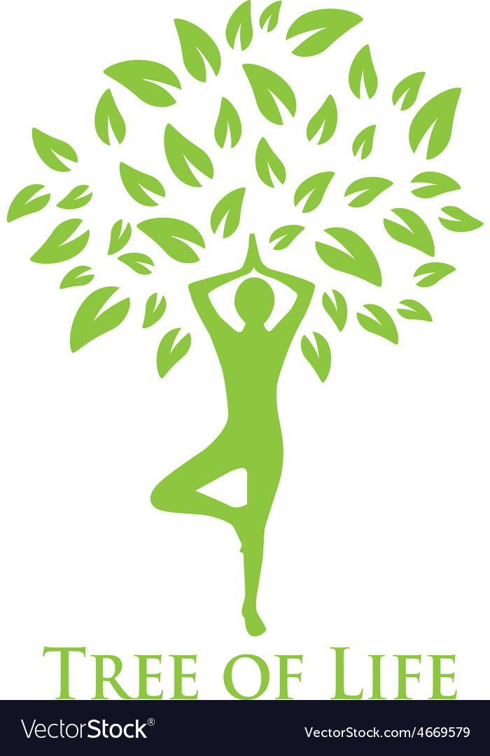 Yoga and the tree of life vector | Price: 1 Credit (USD $1)