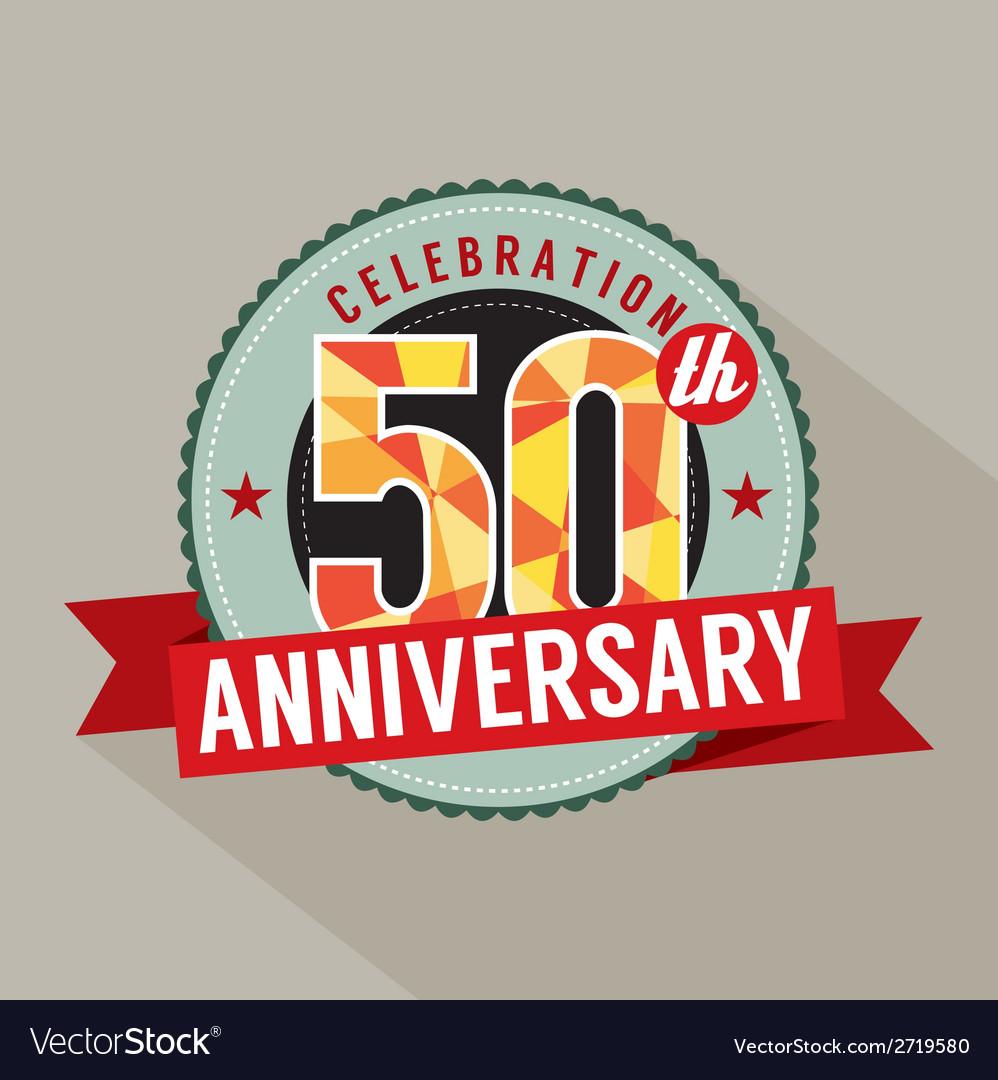 50 years anniversary celebration design vector | Price: 1 Credit (USD $1)