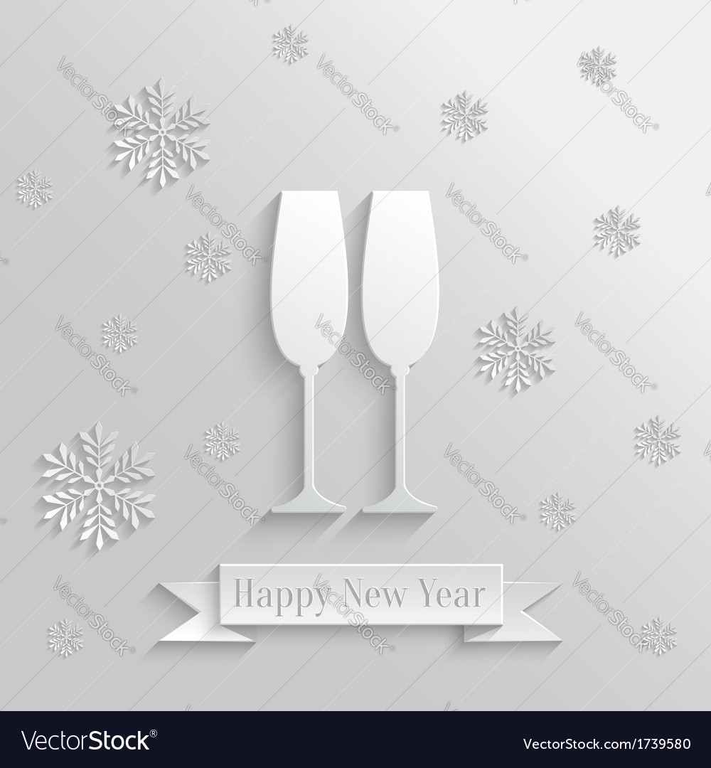 Abstract background with two glasses of champagne vector | Price: 1 Credit (USD $1)